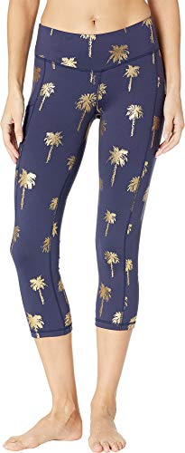 - Lilly Pulitzer Women's UPF 50+ Weekender Crop Leggings True Navy Sunset Safari Palms Small 21