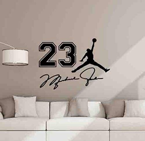 Michael Jordan Wall Decal 23 Sign Basketball Poster Kids Room Gift Bedroom Vinyl Sticker Playroom Wall Art Wall Decor Mural Sport Print 1033