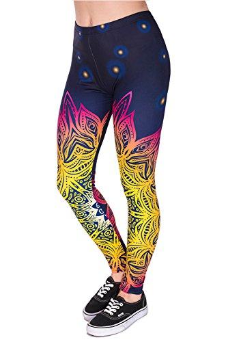Zohra women's leggings,3D Print Soft Fabric Stretchy Workout Yoga Target Leggings-Dragon Pattern One Size (XS-L)]()