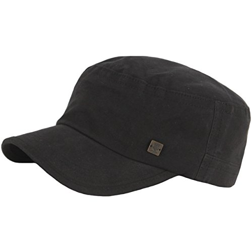 RaOn A153 New Unisex Simple Soft Irish Basic Unique Golf Army Cap Cadet Military Hat (Black) ()