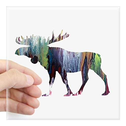 CafePress Moose Sticker Square Bumper