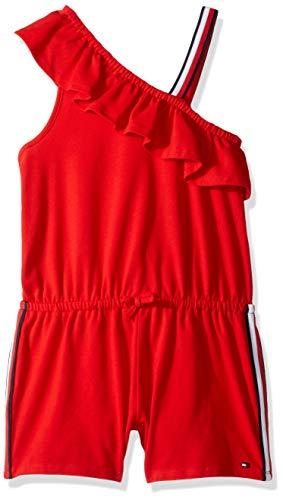 (Tommy Hilfiger Big Girl's Big Girls' Fashion Romper Shorts, one regal red,)