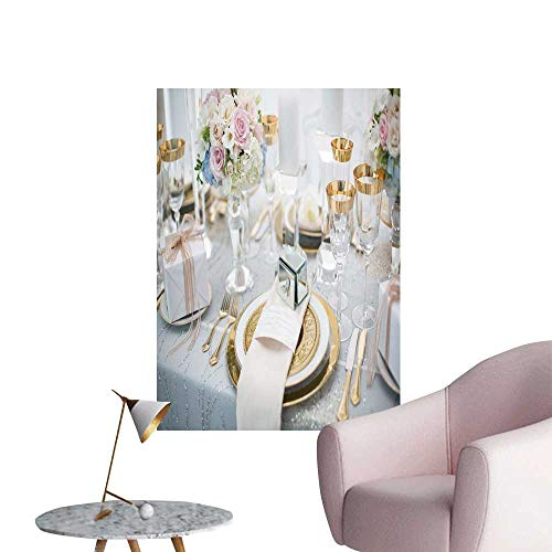 SeptSonne Wall Stickers for Living Room Luxurious wed Cake Vinyl Wall Stickers Print,24