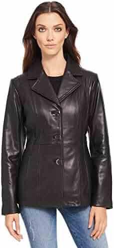 1034d013242 Wilsons Leather Womens Three Button Lamb Blazer W Thinsulate Black