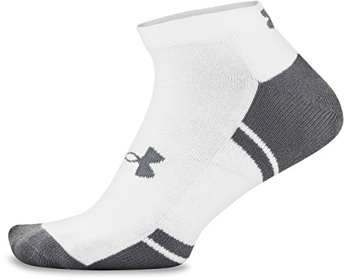 Under Armour Men's Resistor III Lo Cut Socks (6 Pack), White/Graphite, Large by Under Armour (Image #4)