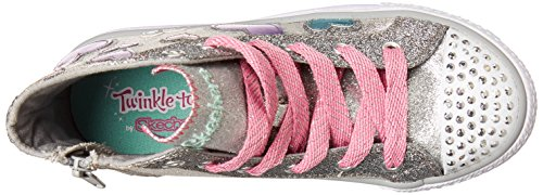 Skechers Mädchen starlet Pose Sneakers Twinkle Toes Silber (Silber)