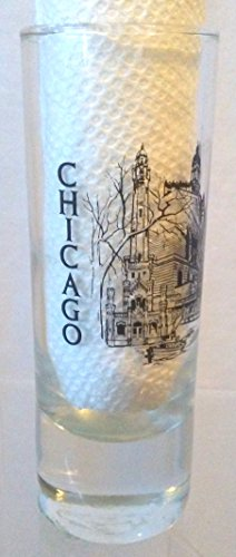 Chicago Shot Glass, Chicago Double SHOT GLASS, Watertower Place Shot - Chicago Tower Water Place