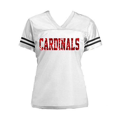 Glitter St Louis Cardinals Jersey Shirt for Ladies - Choose Any Team & Colors - Navy White Silver, Baseball Football ()