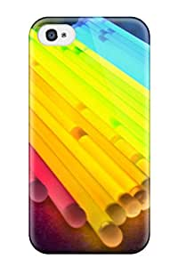 Quality SaundraVillard Case Cover With Colorful Light Tubes Nice Appearance Compatible With Iphone 4/4s