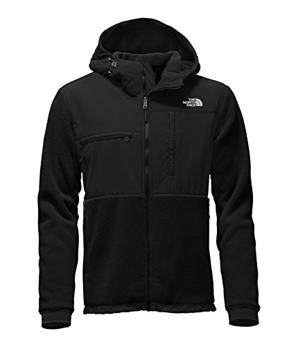 Mens North Face Denali Jacket - The North Face Denali 2 Hoodie Jacket - Men's Recycled TNF Black Large