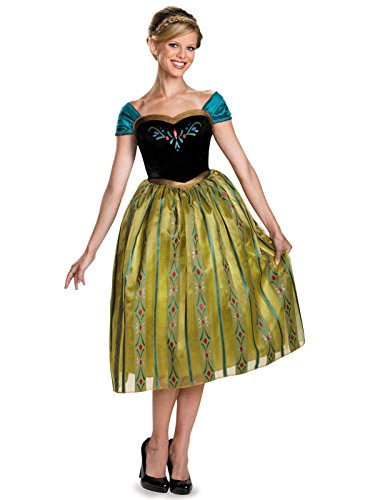 Disguise Women's Anna Coronation Deluxe Adult Costume, Multi, Medium (8-10) -