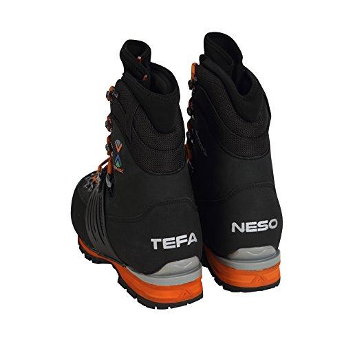 Tefaneso Chaussures De Montagne Hochtour Bottes Dalpinisme Chaussures Pour Hommes - Escalade, Randonnée, Neige Alpine Hiver En Plein Air Imperméable Orange, Confortable Et Noir