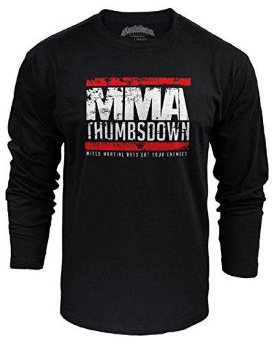 MMA Thumbsdown Long Sleeved Top, Mixd Martial Arts Eat Your Enemies Herren T-shirt