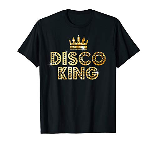 Disco King 70s T Shirt Vintage Party Outfit Dancing Shirt -