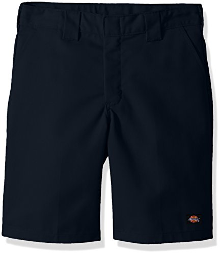 Dickies Boys Flexwaist Flat Front Short W/Extra Pocket Husky, Dark Navy, 18H