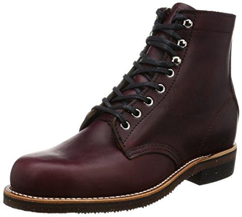 Chippewa Mens 1939 Original Service Leather Boots burgunderfarben