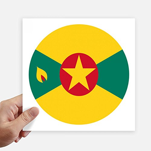 DIYthinker Grenada North Ameica National Emblem Square Stickers 20cm Wall Suitcase Laptop Motobike Decal 4pcs