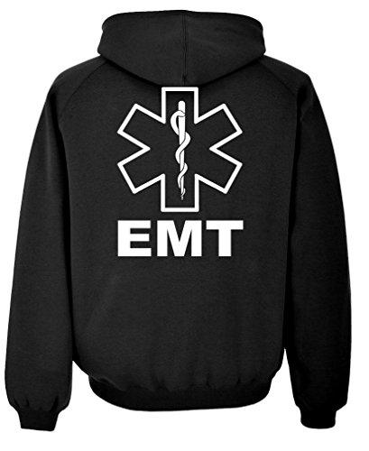 - The Goozler v2 EMT - Emergency Medical Technician 911 - Mens Pullover Hoodie, XL, Black