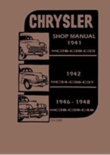 1940 1948 chrysler cd rom repair shop manual chrysler amazon com factory shop service manual for 1941 1948 chrysler imperial new yorker royal
