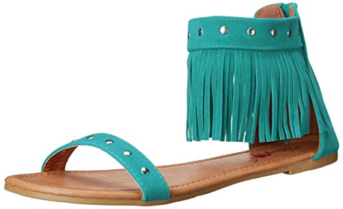Penny Loves Kenny Ankle Strap Heels (Penny Loves Kenny Women's Totem Flat Sandal, Turquoise, 6.5 M US)