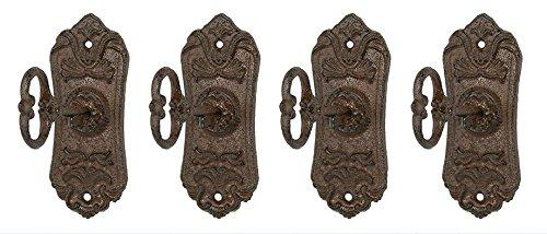 Skeleton Key Cast iron Coat Hook & Key Rack set of 4