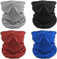 MENOLY 4Pcs Cooling Neck Gaiter Summer Face Cover Neck Scarf Bandanas Neck Wraps Balaclava Head Wrap for Men a