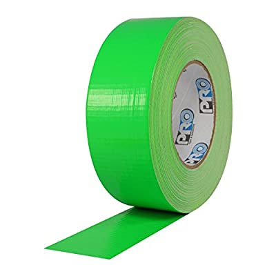 "ProTapes Pro Duct 139 PE-Coated Cloth Fluorescent Specialty Grade Duct Tape, 60 yds Length x 2"" Width, Fluorescent Green (Pack of 1)"