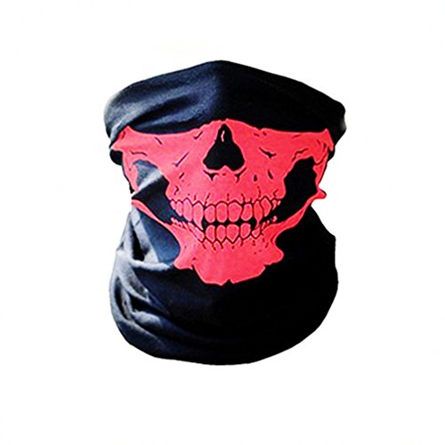 Ghost Skull Balaclava Hood Full Warm Neck Face Cycling Ski Windproof Protector Mask Call Of Duty Masks (Red) ()