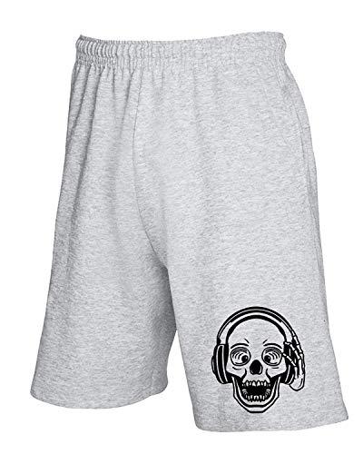 T Dj Fun3784 Tuta Skull Pantaloncini Grigio shirtshock 1xFqrSw1Z