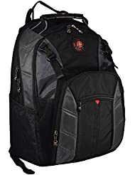 SwissGear The Sherpa 15.6 Padded Laptop Backpack/School Travel Bag (Black-Charcoal)