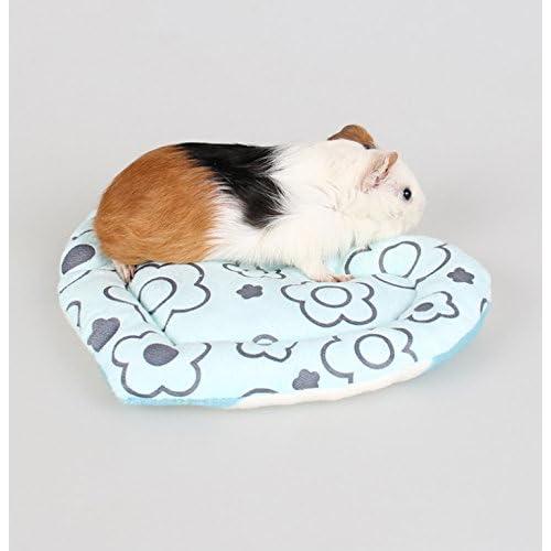 on sale Anndeeson Heart-Shape Soft Pet Cushion Hamster Cat Warm Bed Mat - Blue