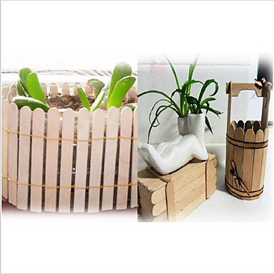 HJLHYL 50Pcs Wooden Popsicle Stick Kids Hand Crafts Art Ice Cream Lolly Cake DIY Making Funny Hot