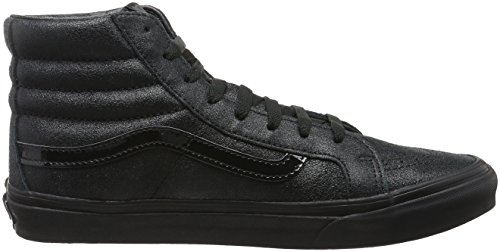 Sneakers Noir patent Salut Sk8 hi Adulte Mixte top Slim Vans Crackle axZwX8x