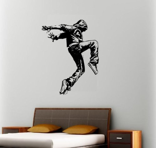 MCARTWORK Design Decals Wall Hip HOP Dancer Decal Sticker Break Dance Hoodie Gangsta Poster Art Vinyl (Stars Of Love And Hip Hop Atlanta)