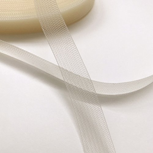 """Top Trimming Stiff Polyester Ivory Horsehair Braid, Selling per Roll 45 Yards (1"""" inch Wide)"""