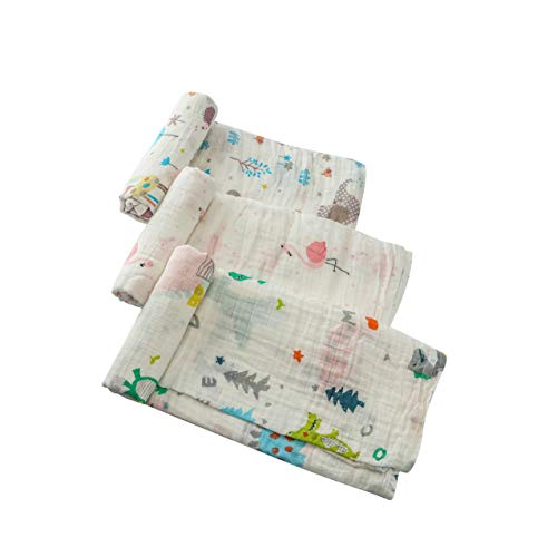 QXJ Muslin Swaddle Blankets Receiving