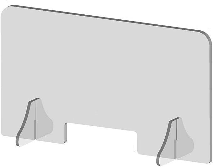 Qianduoduo888 Pantalla Protección Mostrador, Metacrilato Transparente Mamparas para Oficinas para Oficinas para Empleadores, Trabajadores Y Clientes (80 * 60cm): Amazon.es: Hogar