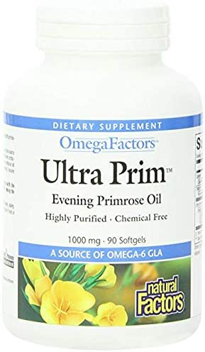 Natural Factors - Ultra Prim Evening Primrose Oil 1000mg, A Natural Source of Omega-6 GLA, 90 Soft Gels