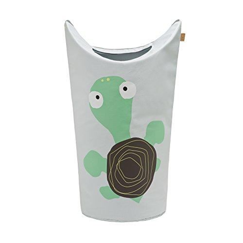 Lässig Laundry or Toy Bag Wäsche- oder Spielzeugkorb für Kinderzimmer, Wildlife Turtle