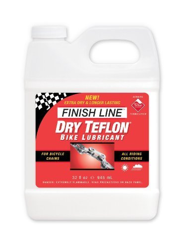 Finish Line Dry Teflon Bicycle Chain Lube, 32-ounce Viertel Jug by Finish Line