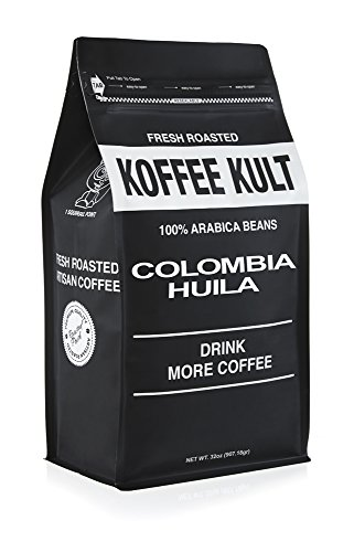 Koffee Kult Coffee Beans Colombian Huila - Highest Quality - Whole Bean Coffee Beans - Fresh Roasted Roasted Colombian (2 pound) - Packaging May Vary