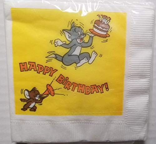 Tom and Jerry Party Napkins Cake Birthday Favors Decoration Partyware 10 Pieces