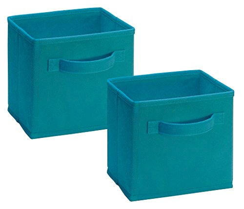 Closetmaid 1538 Cubeicals Mini Fabric Drawers, Ocean Blue, 2 Pack
