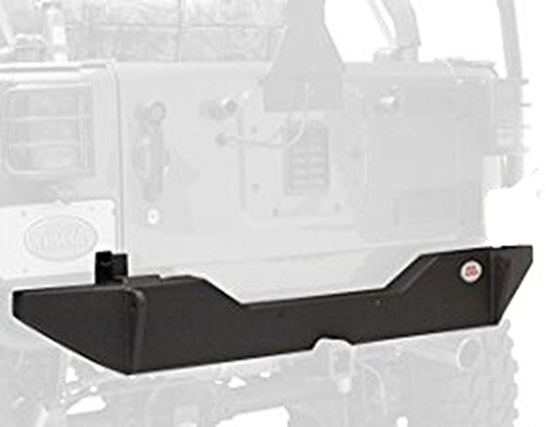 Body Armor 4x4 JK-2394 Black - Steel Rear Bumper for 2007-2013 JK Jeep Wrangler