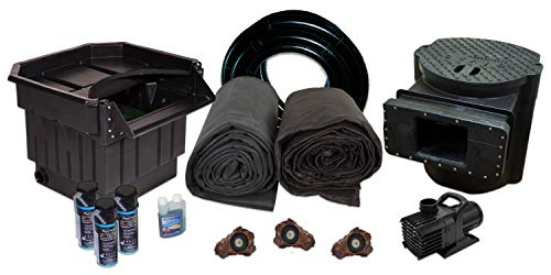 "HALF OFF PONDS XLH2-6100 Complete Water Garden and Koi Pond Kit, with 22"" Waterfall, 25 x 30 Foot EPDM Liner"