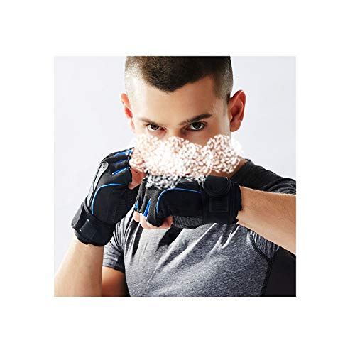 Voic-A 1 Pair Gym Half Finger Sports Fitness Gloves Anti Slip Resistance Exercise Training Wrist Gloves