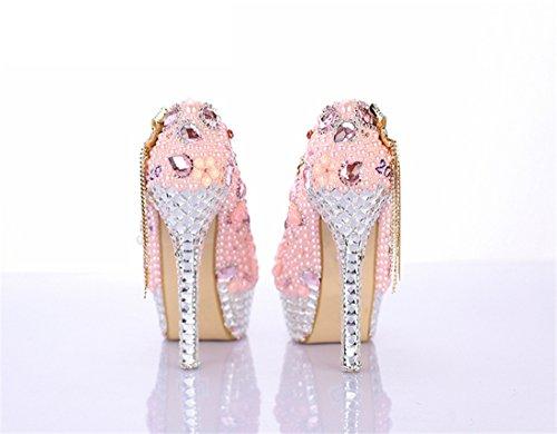 Rose Pink Heel Femme 35 Semelle Miyoopark Compensée 14cm Uwvq4FxZp