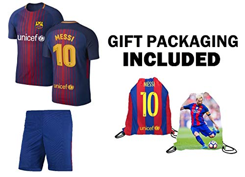 Barcelona Leo Messi  10 Jersey Kit - Ultimate Youth Soccer Fan Gift Set 4  Kids afab23686