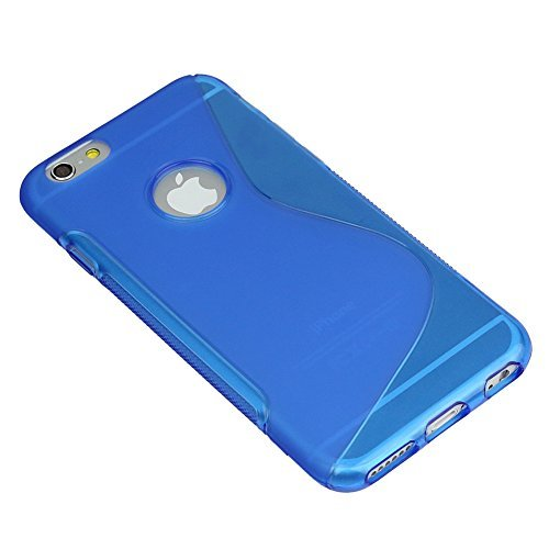 custodia iphone 6 silicone blu