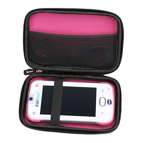 Aproca Hard Storage Travel Case Bag Fit VTech KidiBuzz (Black - Inner Pink)